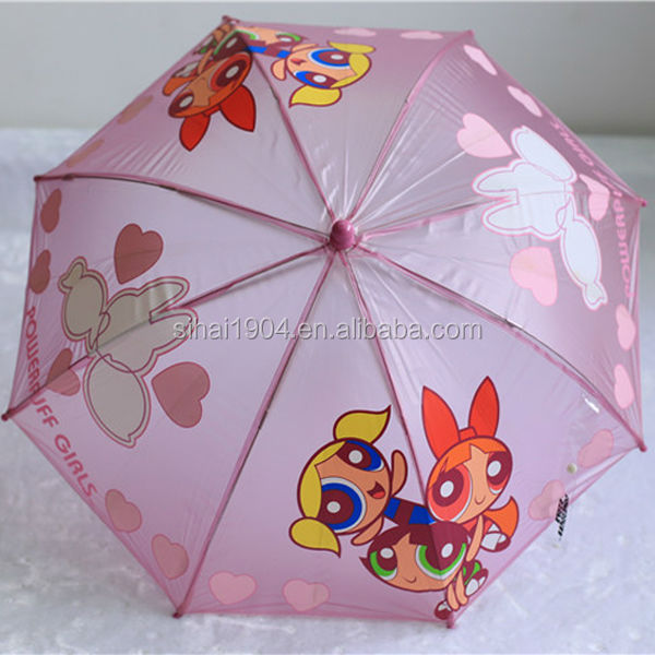 Pink child small umbrella POE/PVC