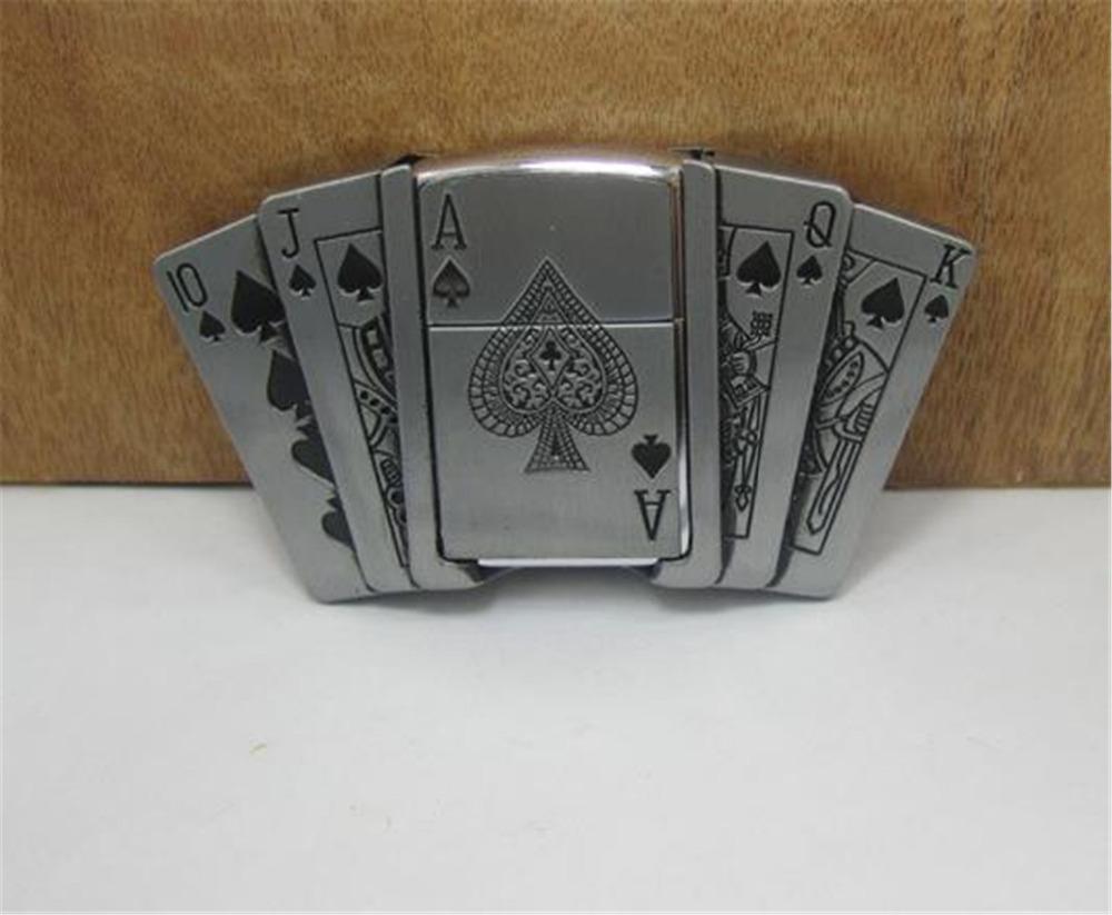 2015 fashion luxury men belt buckles metal poker lighter brand DIY mens  designer belt buckles new year gifts free shipping CX523 47a4259d6af3