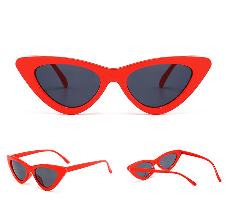 e70a9b1e469c 2018 cute sexy retro cat eye sunglasses women small black white triangle  vintage cheap sun glasses