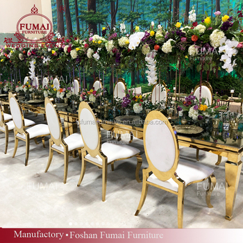 Latest Wedding Products Modern Mirror Glass Person Banquet Dining - 10 person modern dining table