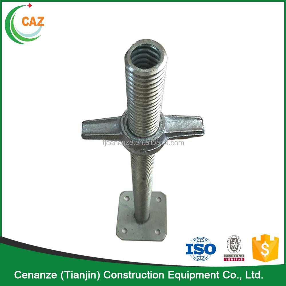 Adjustable U Head : Adjustabke u head screw jack for ringlock scaffolding