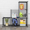 Metal wire rack display kitchen home flowerpot multifunction wall mounted wire shoe rack