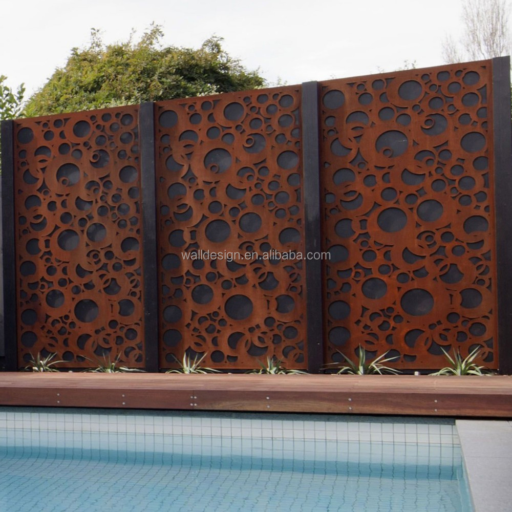 laser decorative metal garden screens used for swimming pool