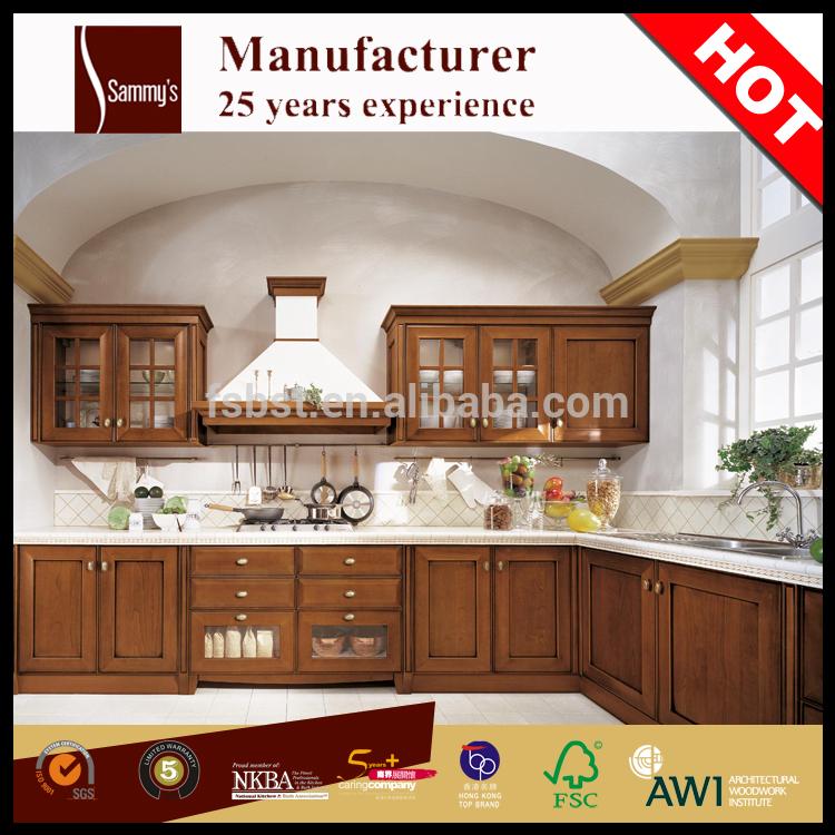 Gabinete de cocina de madera maciza país gabinetes de cocina con ...