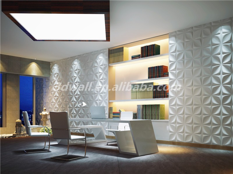 Color available 3d paper wall decoration tile stickers for living room