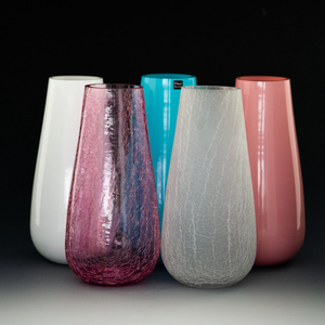 china oem color crystal glass flower vase