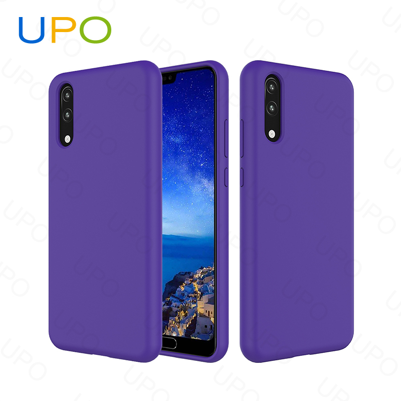 [UPO]2018 New Full Soft Protective Liquid Silicone Rubber Mobile Phone Case for huawei p20