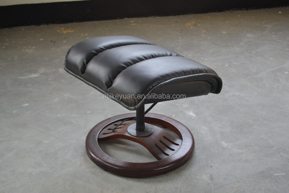 Genuine Leather Recliner Swivel Chair Amp Footstool High