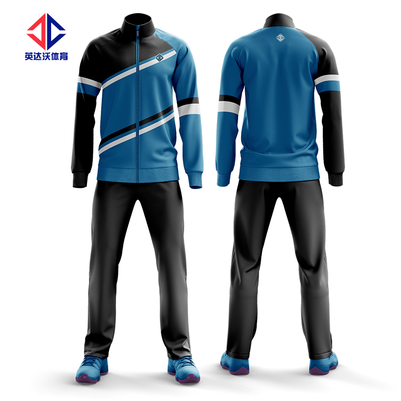 100% polyester customized fitted slim fit tracksuit wholesale