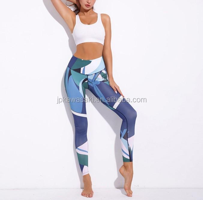 ที่กำหนดเองพิมพ์ leggings สวม private label women กางเกงโยคะ