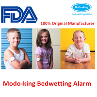Alarm Type Sound +vibration+light bedwetting alarm with separate sensor clip wires