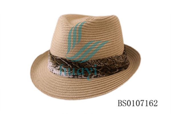 lace trim paper straw craft fedora hat