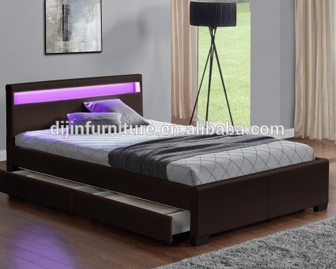 wholesale dealer f4a8e 75317 Double King Size Bed Frame With 4 Drawers Storage Led Headboard - Buy King  Size Bed Frames,King Size Slat Bed Frame,King Size Leather Bed Frame ...