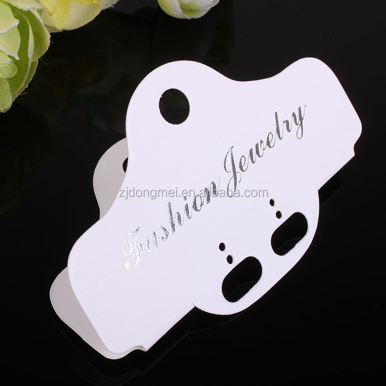 Wholesale custom printed white fold earring card