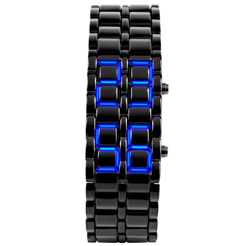 4e89659cb6c Melhor Venda pulseira de metal levou assistir mulheres e homens samurai de  ferro LEVARAM relógio