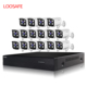 Loosafe 5MP HD H.265X POE 16CH Cheap Nvr CCTV Security Camera Kit Outdoor IP Camera P2P Video Surveillance System
