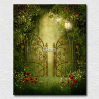 Bedroom decoration mysterious garden picture landscape painting ideas