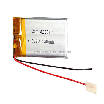 Outstanding 423040 3 7V 450Mah Rechargeable Lipo Battery With Pcm And Wires Wiring 101 Akebretraxxcnl