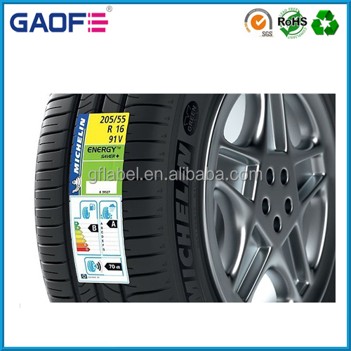High Temperature Tread Tire Labels, Tyre Curing Tread Sticker Label, Adhesive Label Stickers for Tire Tread