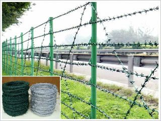 PVC Coated & Galvanzied Barbed Wire