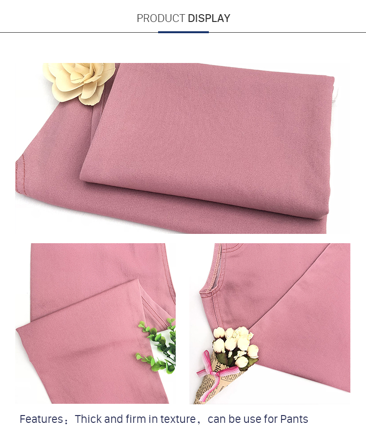 Factory Direct Sale Cotton Polyester Satin Trousers Fabric