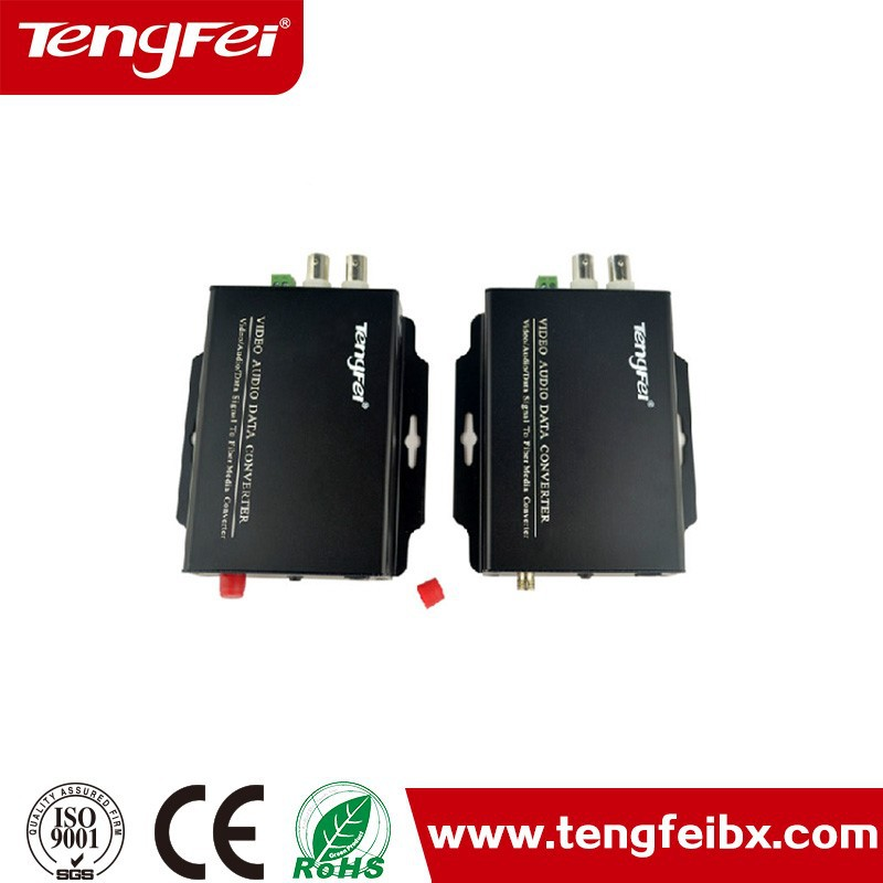2 Channel desk type Forward BNC video fiber optic converter