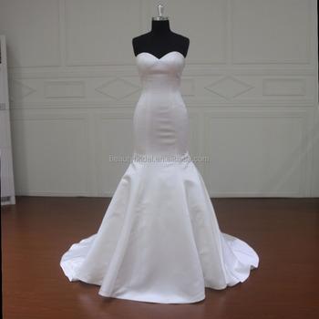 Mm033 Simple Satin Bridal Mermaid Julie Vino Wedding Dresses - Buy ...