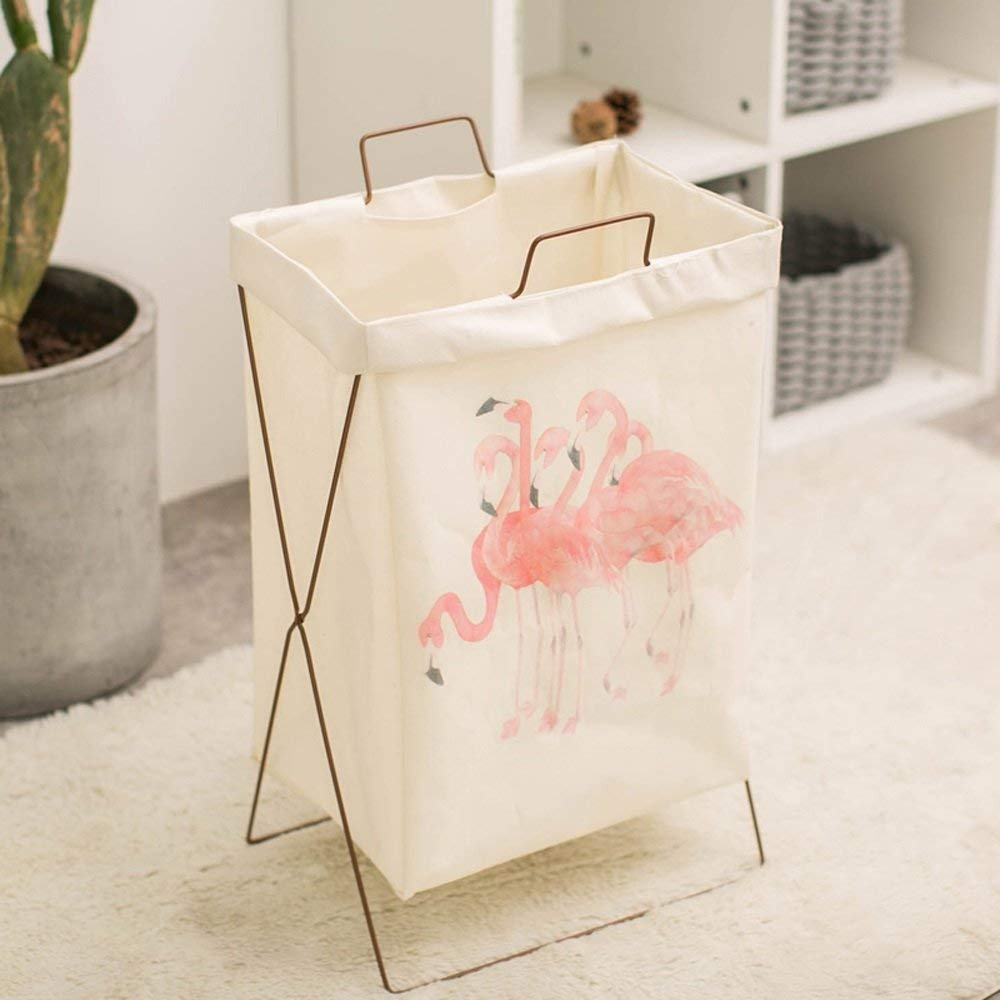 Kaiyu Laundry Basket Folded Laundry Clothes Basket Toy Storage Bucket Simple Clothes/Socks/Toys/Towels/Dirty Clothes
