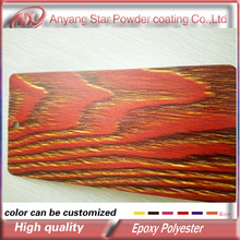 Anyang Star water resistance wood grain thermal transfer Powder Coating