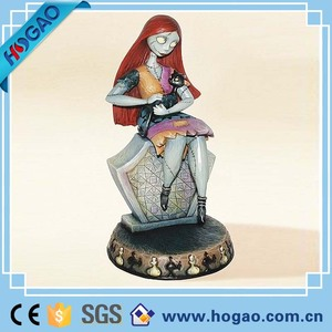 Creative Halloween Home Decoration Resin Figurine Pretty Girl