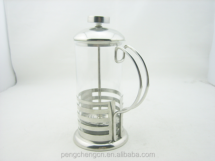 Pengrui 350 ml/600 ml stainless steel handle glass french press