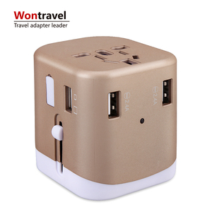 2019 hot selling gifts 4.5A output world multi plug universal adaptor 4USB UK EU US AU travel charger adapter