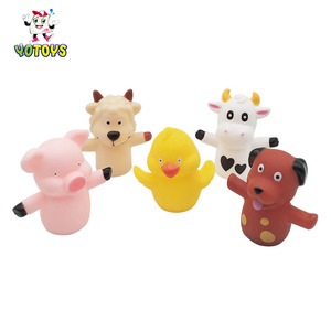Funny PVC Finger Puppets Toys Kids Gifts Cartoon Animal Toy