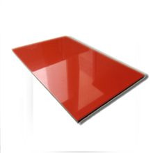 3mm 0.21mm Gloss Red Shopface ACP ACM Decoration Material Outer Door Wall Cladding Panel Aluminum Composite Panel