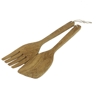 High quality kitchen spoon and fork set oak spoon set