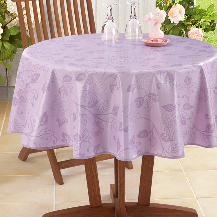 white film PVC printed tablecloth for home/party/outdoor use