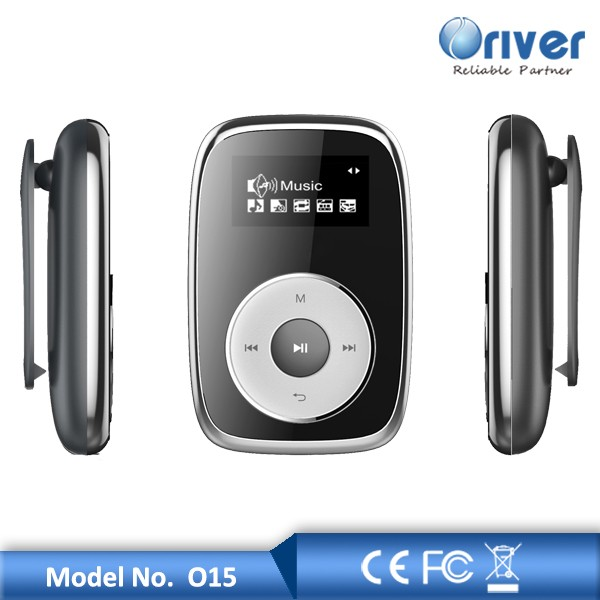 FM radio mp3 music player with clip for jogging