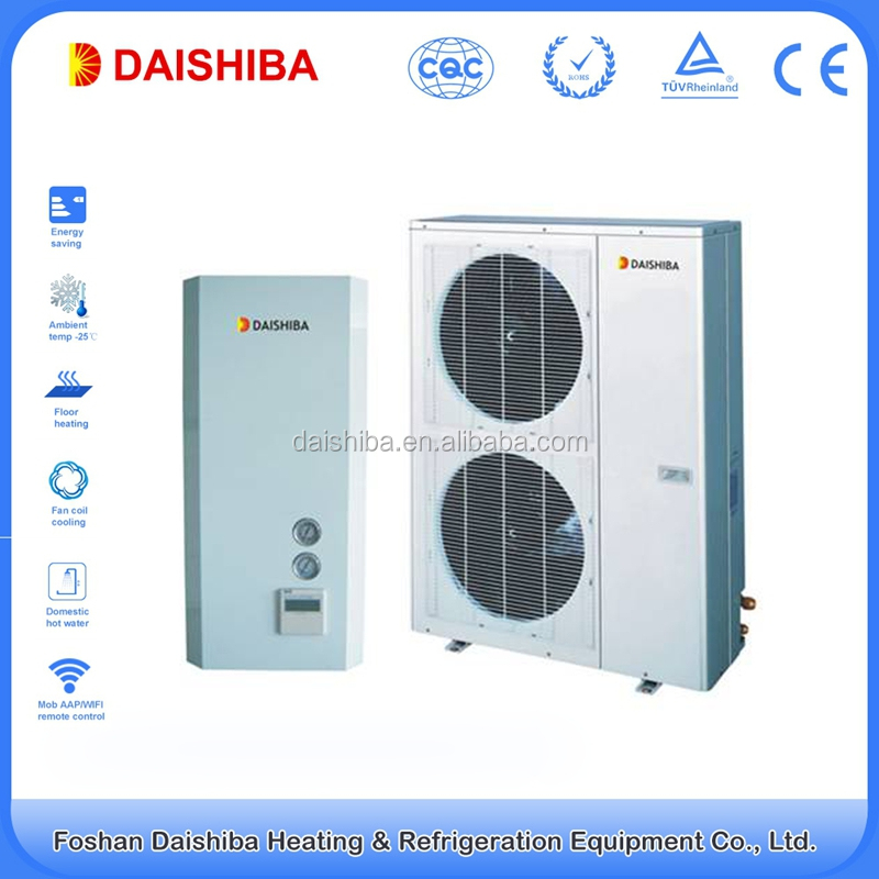 14kw Factory hot sale energy saving DC Inverter Heat Pump Air to Water Split for hot live water and hosue heating
