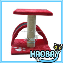 Bright Red Print Coustom Cat Simple Scratching Tree