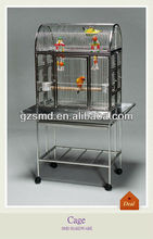 Folding stainless steel bird cage with wheels