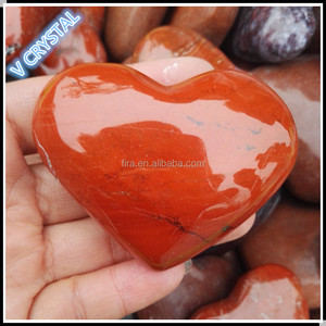 Hot Sale Natural Crystal Heart Gemstone Crystal Heart Wholesale Red Jasper Heart Carving For Sale
