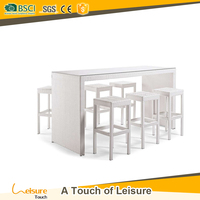 Foshan garden supplier directly sales outdoor wicker table and stool for club furniture used bistro bar stool