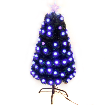 xibao brand hot sale wholesale 5ft led fiber decoration light christmas tree