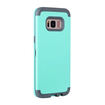 Anti fingerprints matt surface 3 in 1 hybrid plastic shockproof phone case for samsung s6 s5