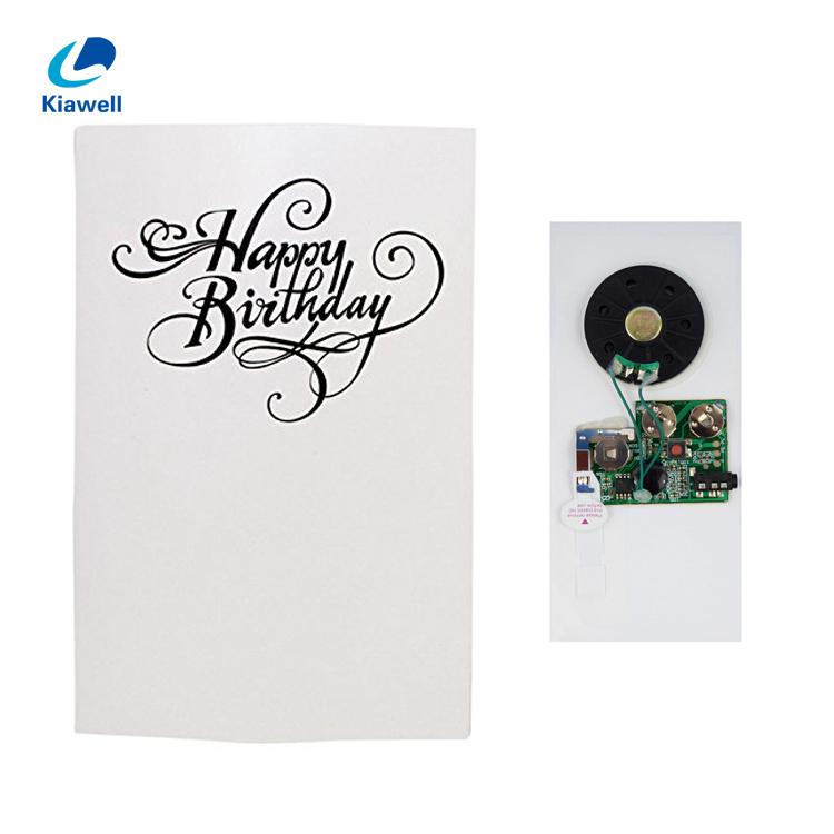 China Manufacturer Pearl Paper Custom Music Always Singing Greeting