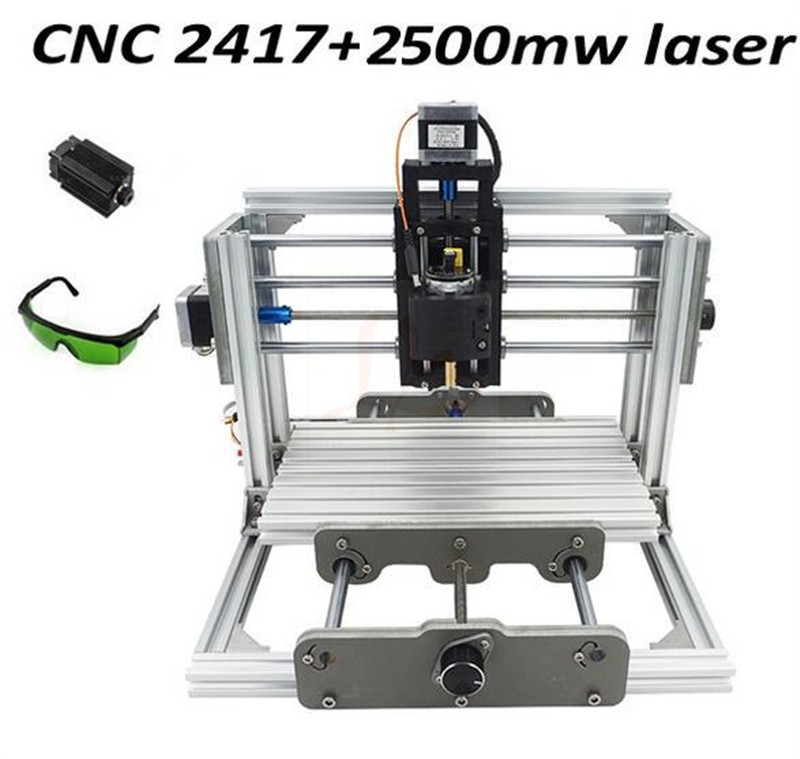 Disassembled Pack Mini Cnc 2417 + 2500mw Laser Cnc Engraving Machine Pcb  Milling Machine Wood Carving Machine Diy Mini Cnc Route - Buy Cnc Engraving