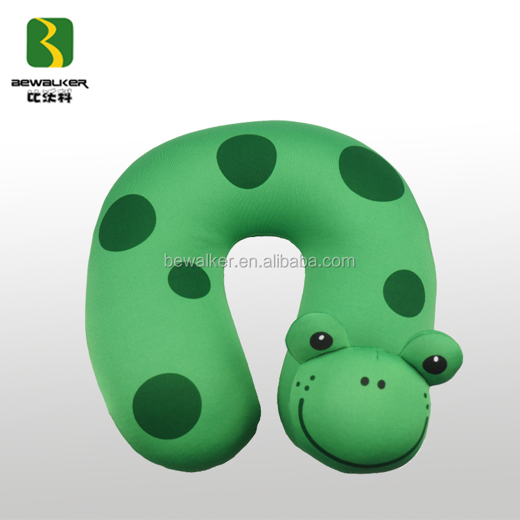 Manufacturer OEM&ODM U Shape Animal Frog Shape Kids Neck Pillow