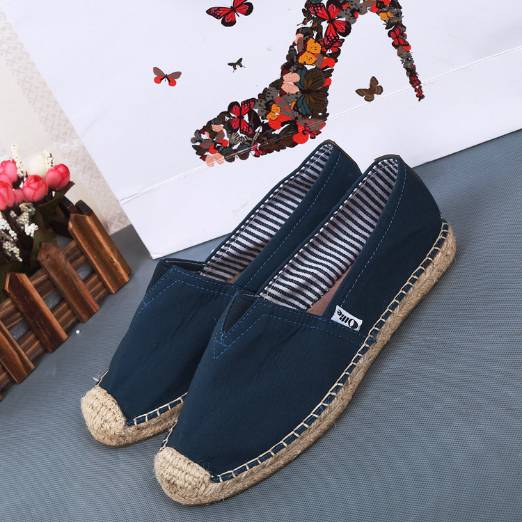 Por mayor a medida alpargatas zapatos de lona casuales mujeres zapato