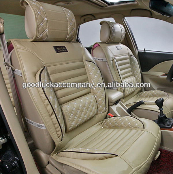 Classic Elegant Leather Car Seat Covers Design