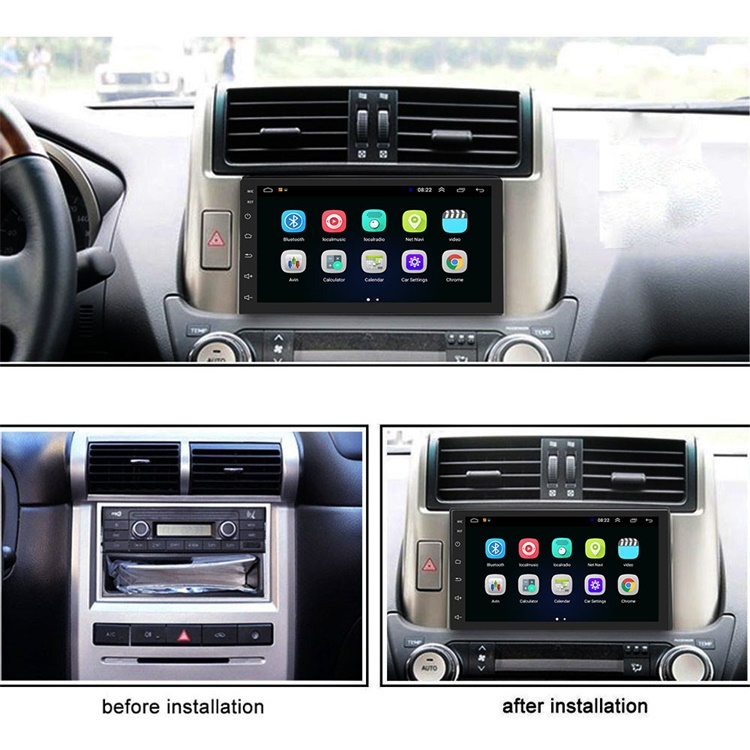 "Podofo Car Video Radio Android 8.1 2 Din 7"" Autoradio GPS Navigation Wifi Bluetooth FM Mirror Link Rear Camera"
